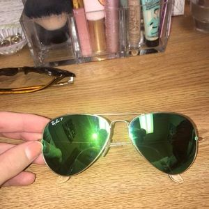 Ray ban green aviators
